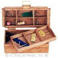 Dollhouse Wood Fishing Tackle Box - Product Image