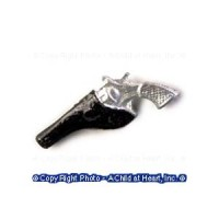 § Disc .60¢ Off - Dollhouse Silver Gun in Holster - Product Image