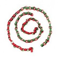 (§) Disc .60¢ Off - Dollhouse Christmas Paper Chain - Product Image