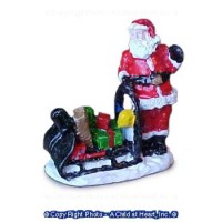 Unfinished - Santa with Sleigh - Product Image