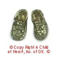 (*) Unfinished Baby Shoes - Product Image