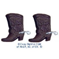 (*) Unfinished Dollhouse Cowboy Boots - Product Image