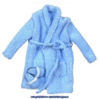 Miniature Men's Long Terry Cloth Robe Set - Product Image