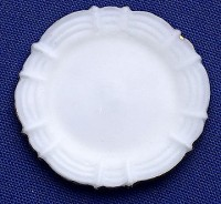 (§) Sale .50¢ Off - Dollhouse Gold Trim Dinner Plate - Product Image