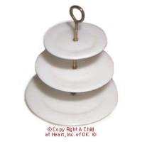 Disc $2 Off - Dollhouse 3 Tier Porcelain Plate - Product Image