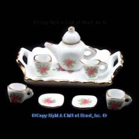 § Disc. $1 Off - Dollhouse Rose Tea Set - Product Image