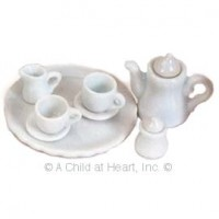 § Sale $2 Off - Dollhouse White Coffee Set - Product Image