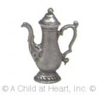 Sale .50¢ Off - Antiqued Pewter Coffee Pot - Product Image