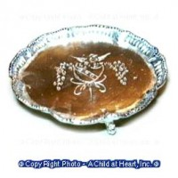 Dollhouse Footed Silver Tray - Product Image