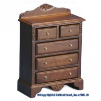 Chest of Drawers - Walnut - Product Image