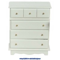 Dollhouse White Chest of Drawers - Product Image