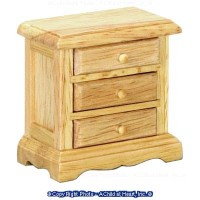 Dollhouse Night Stand w/Wood Knobs - Oak - Product Image