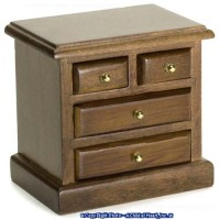 Disc $1 Off - 4 Drawer Walnut Nightstand - Product Image