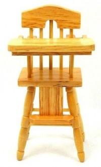 Dollhouse Highchair - Oak - Product Image
