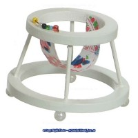 White Dollhouse Baby Walker - Product Image