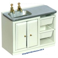Disc. $5 Off - Modern White Laundry Sink - Product Image