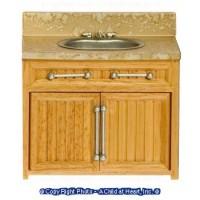 § Disc. $2 Off - Modern Oak & Marble Sink - Product Image