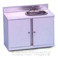 (§) Sale $2 Off - White Cabinet with Stainless Sink - Product Image