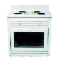 Disc $2 Off - Ribbed Front Stove - White - Product Image