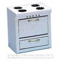Dollhouse Budget White Stove - Product Image