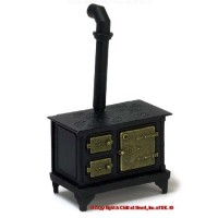 Sale $4 Off Dollhouse Black Metal Stove - Product Image