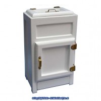 Dollhouse Top Loading White Ice Box - Product Image