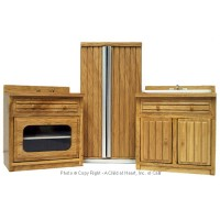 Dollhouse Modern Oak 3 pc Kitchen Set - Product Image