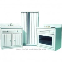 Dollhouse 3 pc Modern White Kitchen Set - Product Image
