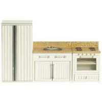 Dollhouse White & Marble Appliance Set - Product Image