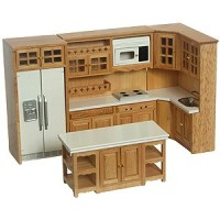Dollhouse Oak Modern Kitchen - Product Image