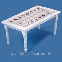 Dollhouse White Tile Top Table - Product Image