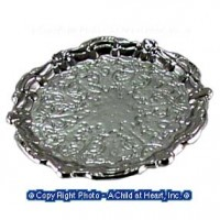 (§) Sale .30¢ Off - Dollhouse Round Silver Tray - Product Image