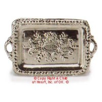 Dollhouse Rectangular Silver Tray - Product Image