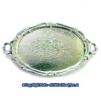 Dollhouse Silver Oval Tray - Product Image