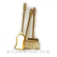 § Disc .60¢ Off - Dollhouse Fireplace Tools - Product Image