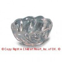 § Sale .50¢ Off - 1 Small Scalloped Acrylic Bowl - Product Image