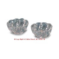 § Sale .30¢ Off - 2 Small Scalloped Acrylic Bowls - Product Image