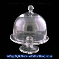 (§) Sale .50¢ Off - Cakestand With Round Dome Cover - Product Image