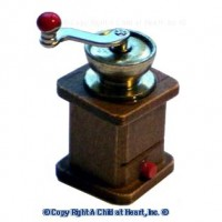 § Disc .60¢ Off - Dollhouse Wooden Coffee Grinder - Product Image