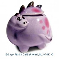 (§) Disc $2 Off - Dollhouse Ceramic Dinosaur Cookie Jar - Product Image