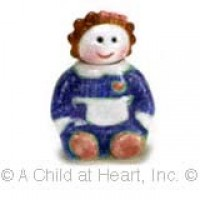 Disc $2 Off - Dollhouse Ceramic Cookie Jar - Girl in Blue - Product Image