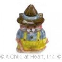 Disc $2 Off - Dollhouse Ceramic Cookie Jar - Farmer Cat - Product Image