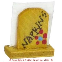 § Disc .40¢ Off - Dollhouse Wooden Napkin Holder - Product Image
