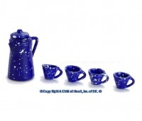 § Sale $1 Off - Dollhouse Spatter Coffee Set - Blue - Product Image