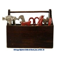 Dollhouse Tool Box with Tools - Product Image