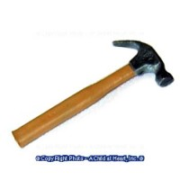 § Sale - Dollhouse Metal Claw Hammer - Product Image