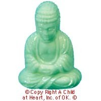 (§) Sale .60¢ Off - Dollhouse Sitting Buddha - Product Image