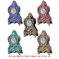 § Sale - Dollhouse French Mantel Clock - Product Image