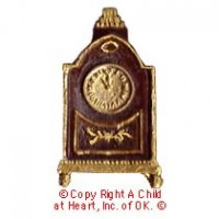 (§) Sale - Dollhouse Victorian Mantle Clock - Product Image