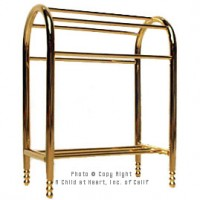 (**) Brass Quilt / Towel Rack - Product Image